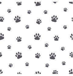 animal paw prints simple seamless pattern on vector image