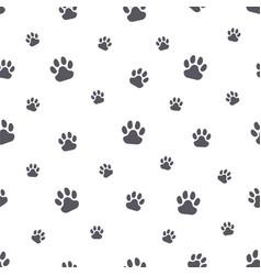 animal paw prints simple seamless pattern vector image