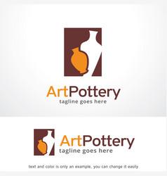 art pottery logo template design emblem design vector image