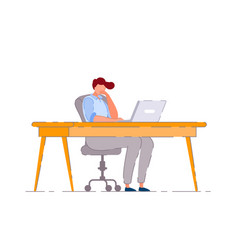 bored office worker isolated bored business man vector image