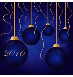 Bright color christmas balls vector image vector image