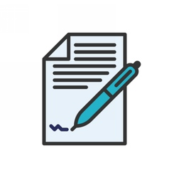 business contract icon vector image