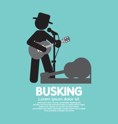 Busking Street Performance Symbol vector image