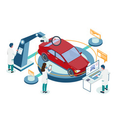car repair auto diagnostic service vector image