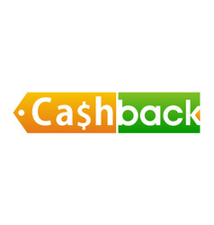 cash back logo design template vector image