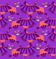Cheshire cat smile pattern texture fantastic pet vector
