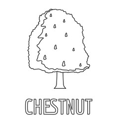 chestnut icon outline style vector image