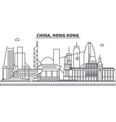 China hong kong 1 architecture line skyline vector