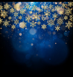 Christmas card with foiled gold snow flake golden vector