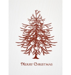 Christmas with tree vector