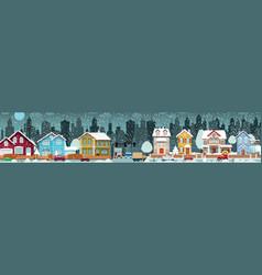 City life winter vector