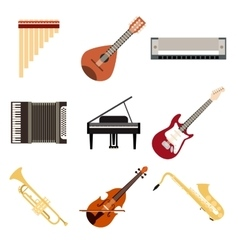 Collection musical instruments vector