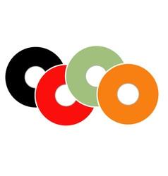 Colorful vinyl vector