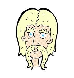 comic cartoon man with long mustache vector image