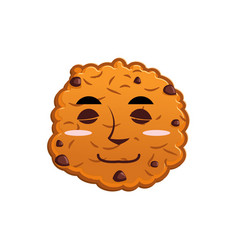 cookies sleeps emoji biscuit emotion sleep food vector image