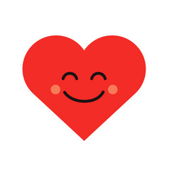 cute heart emoji smiling face icon vector image