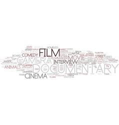 Documentary word cloud concept vector