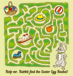 Easter Rabbit Maze Game vector