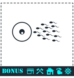 Fertilization icon flat vector
