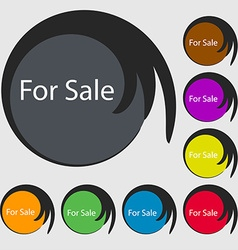 For sale sign icon Real estate selling Symbols on vector image