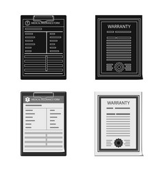 Form and document icon set vector