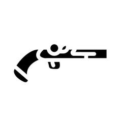 Gun weapon pirate glyph icon vector