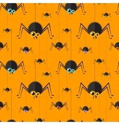 halloween spider seamless background Eps10 vector image
