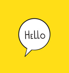 hi hello banner speech bubble poster and sticker vector image