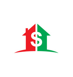 Home money dollar business logo vector