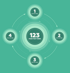 Infographics elements 4 steps and circle header vector