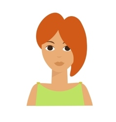Irish woman flat vector