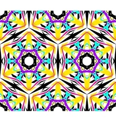 Kaleidoscopic Abstract Flower Pattern vector image