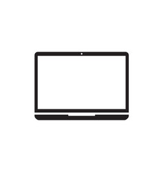 laptop computer icon template vector image