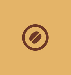 Letter o number 0 coffee logo icon design vector