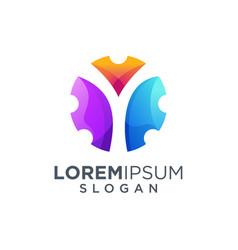 Letter y logo design vector