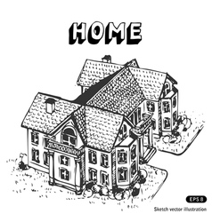 Luxury home vector image vector image