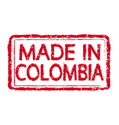 made in colombia stamp text vector image