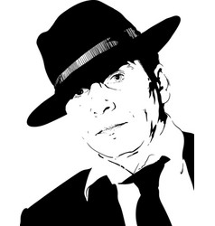 man in hat vector image