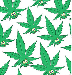marijuana cartoon pattern background vector image