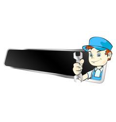 master repair symbol vector image