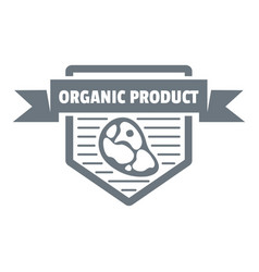 Meat organic product logo simple style vector