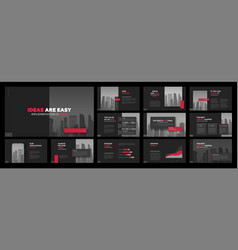 Modern presentation templates set for business vector
