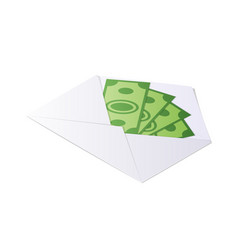 Money in envelope dollar bills isometric vector