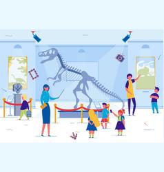 museum excursion for school or preschool kids vector image