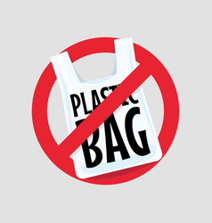 No plastic bag concept vector