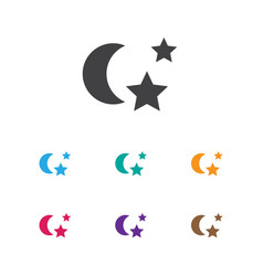 of folks symbol on night icon vector image