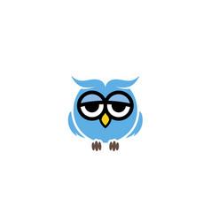 owl blue logo vector image