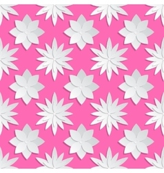 Paper cut flowers background Origami vector image