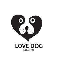 puppy logo designs vector image