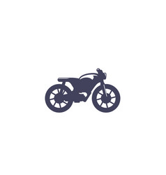 Racer motorcycle on white vector